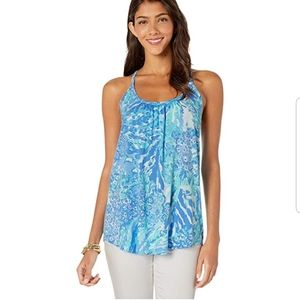 NWT Lilly Pulitzer Blue Haven Hey Hey Soleil top